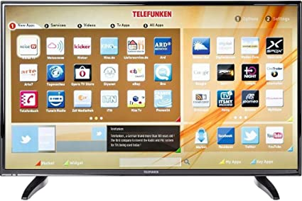 Telefunken LED de TV 102 cm 40 pulgadas d40 F287 a3cw eficiencia energética A + DVB-T, DVB-C, DVB-S, Full HD, smart TV, WiFi, C: Amazon.es: Electrónica