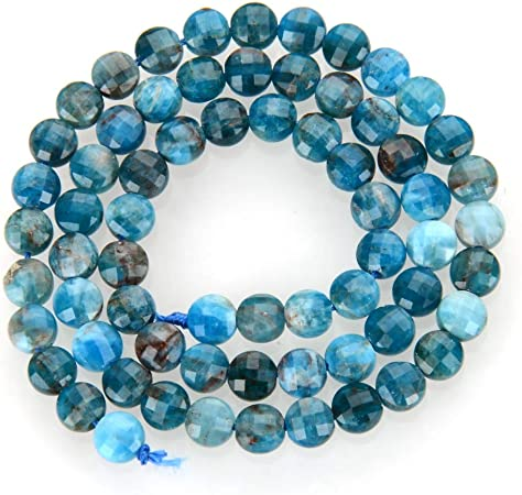 39pcs//Strd Natural Apatite Stone Beads Drop Smooth Tiny Semi Gems Blue 10x6mm