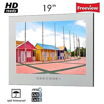 Fernseher Badezimmer Luftfeuchtigkeit | Soulaca 19 Zoll Ip66 Wasserdicht Hd Ready Freeview Amazon De