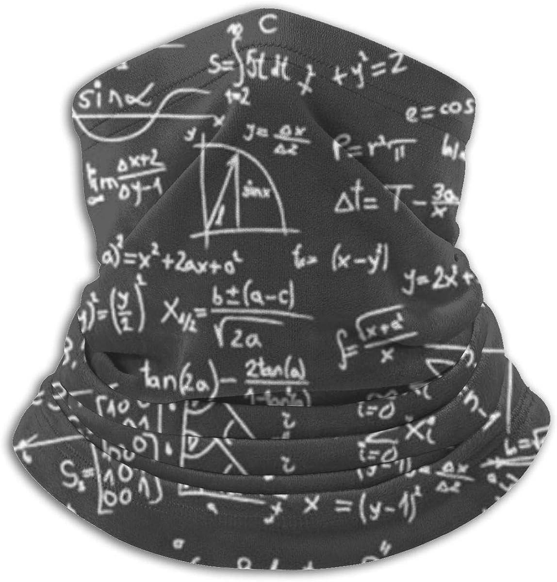LinUpdate-Store Polaina de cuello, ecuación matemática, regalo de maestro, pañuelo a prueba de viento, pañuelo mágico, cubierta de bufanda, sombreros para hombres y mujeres