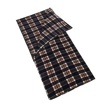 LouisaYork - Saco de dormir de forro polar, cálido, rectangular, sobre, saco de dormir, sábana de viaje ...