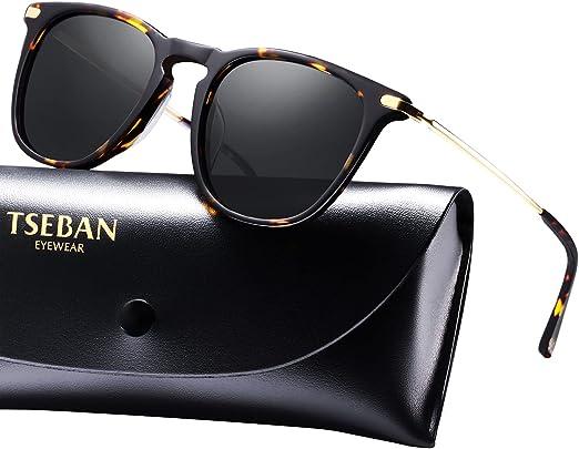 TSEBAN Women's Polarized Sunglasses UV400 Protection Outdoor Glasses Acetate Frame
