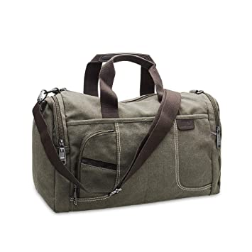 967976db61 Amazon.com  Small Canvas Overnight Bag Men Women Travel Duffel Bag Canvas  Weekender Overnight Bag for Mens (Army Green)  Glen Mila