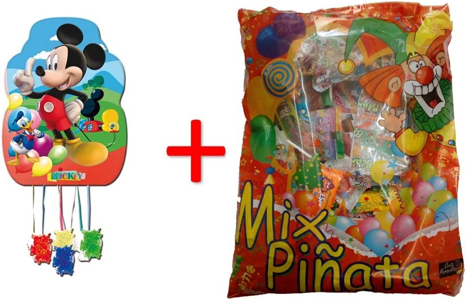 ALMACENESADAN 1187, piñata Perfil Mickey Mouse 33x46 cm, con ...
