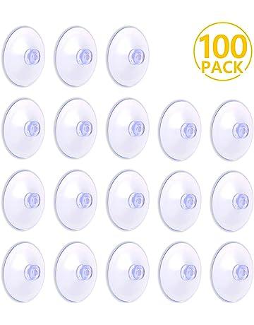 100 Piezas 30mm Ventosas Transparente de Plástico Ventosas sin Ganchos no es Fácil de Caerse para