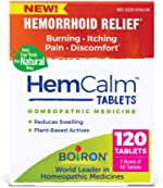 Boiron Hemcalm Tablets Homeopathic Medicine for Hemorrhoid Relief, Non-Drowsy, 120 Tablets,