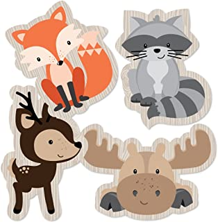 product image for Woodland Creatures - Animal Shaped Decorations DIY Baby Shower or Birthday Party Essentials - Set of 20