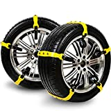 Car Security Chains Cable Traction Mud Chains Slush Chains Snow Tire Chains All Season Tire Anti-slip Chains for Cars 10PCs for Tire Width:185-225mm/7.2-8.9''