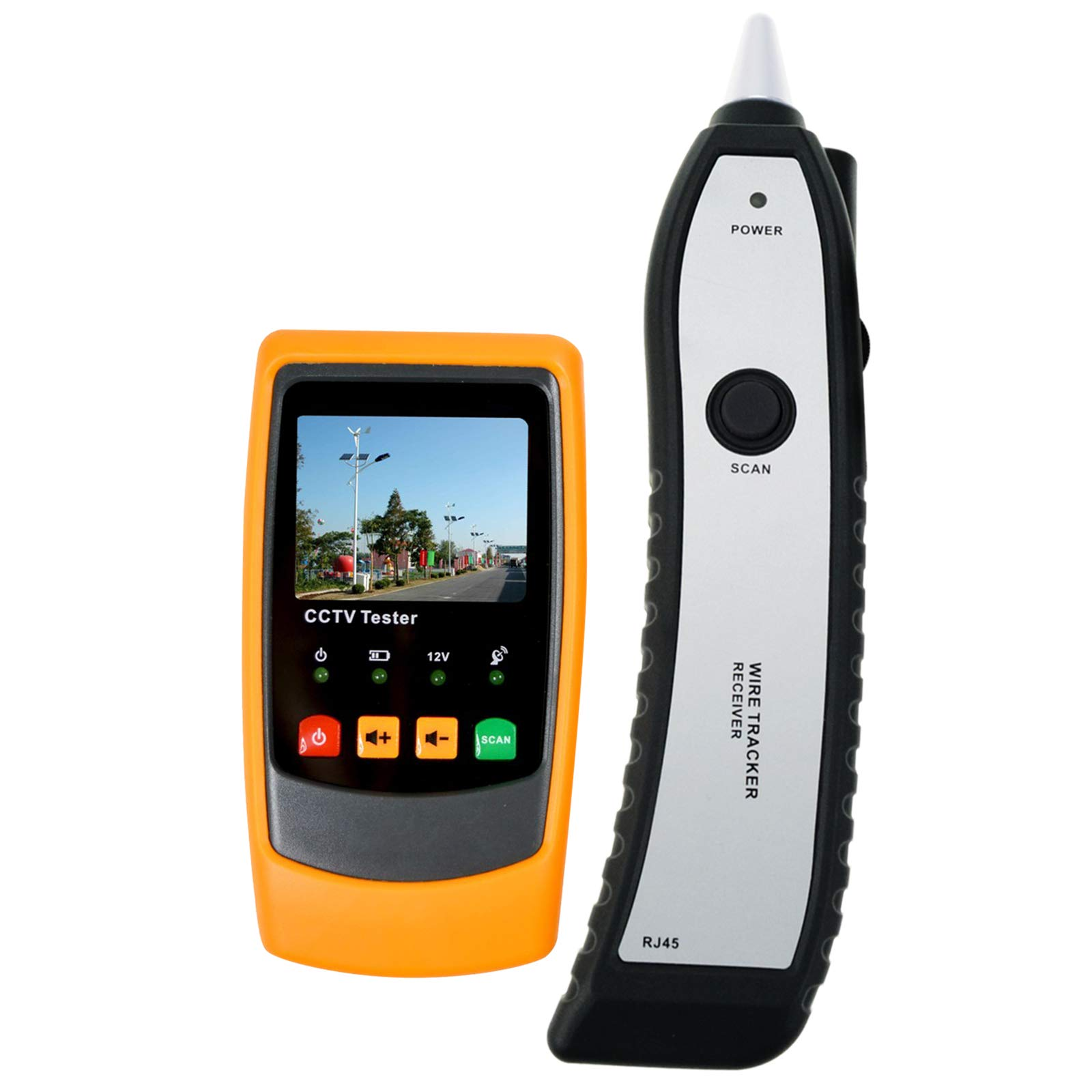 DANOPLUS Instrument CCTV Tester CCTV Cable Tester Security Camera Tester 2.0 inch TFT LCD Wire Tracker Site Installation
