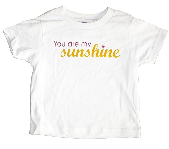 6be8daf7 Amazon.com: U.S. Custom Ink Girl's You Are My Sunshine Toddler T ...