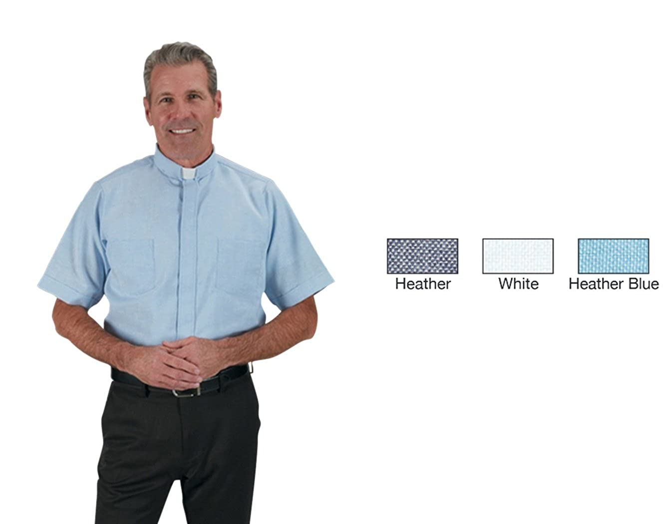 Rj Toomey Mens Summer Oxford Short Sleeve Clergy Shirt At Amazon