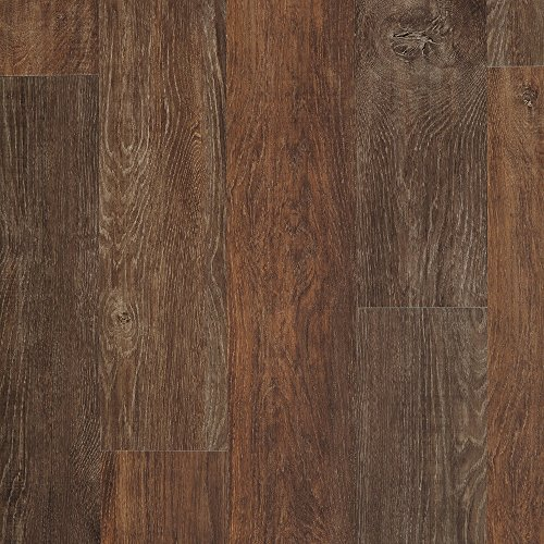 Hardware ALP631 Adura Glue Down Distinctive Collection Luxury Iron Hill Vinyl Plank Flooring, Fireside