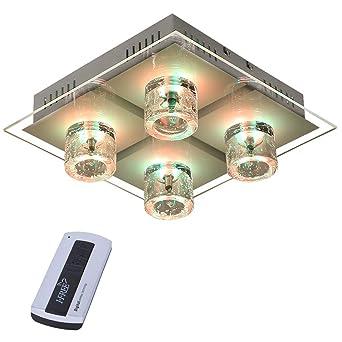 Lámpara de Techo Cristal Lámpara de techo en cromo ...