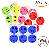 20pcs Mosquito Repellent Patches Smiling Stickers 100% Natural Non Toxic Pure Essential Oil Keeps Insects Far Away Camping Travel