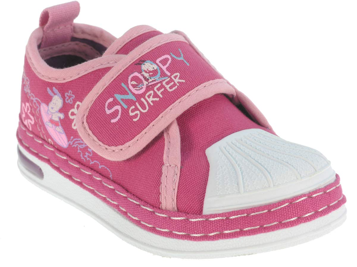 Snoopy Casual Canvas Baby Shoe – Pink, 6