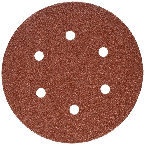 PORTER-CABLE 736600625 6-Inch 6-Hole Hook and Loop 60 Grit Sanding Discs 25-Pack