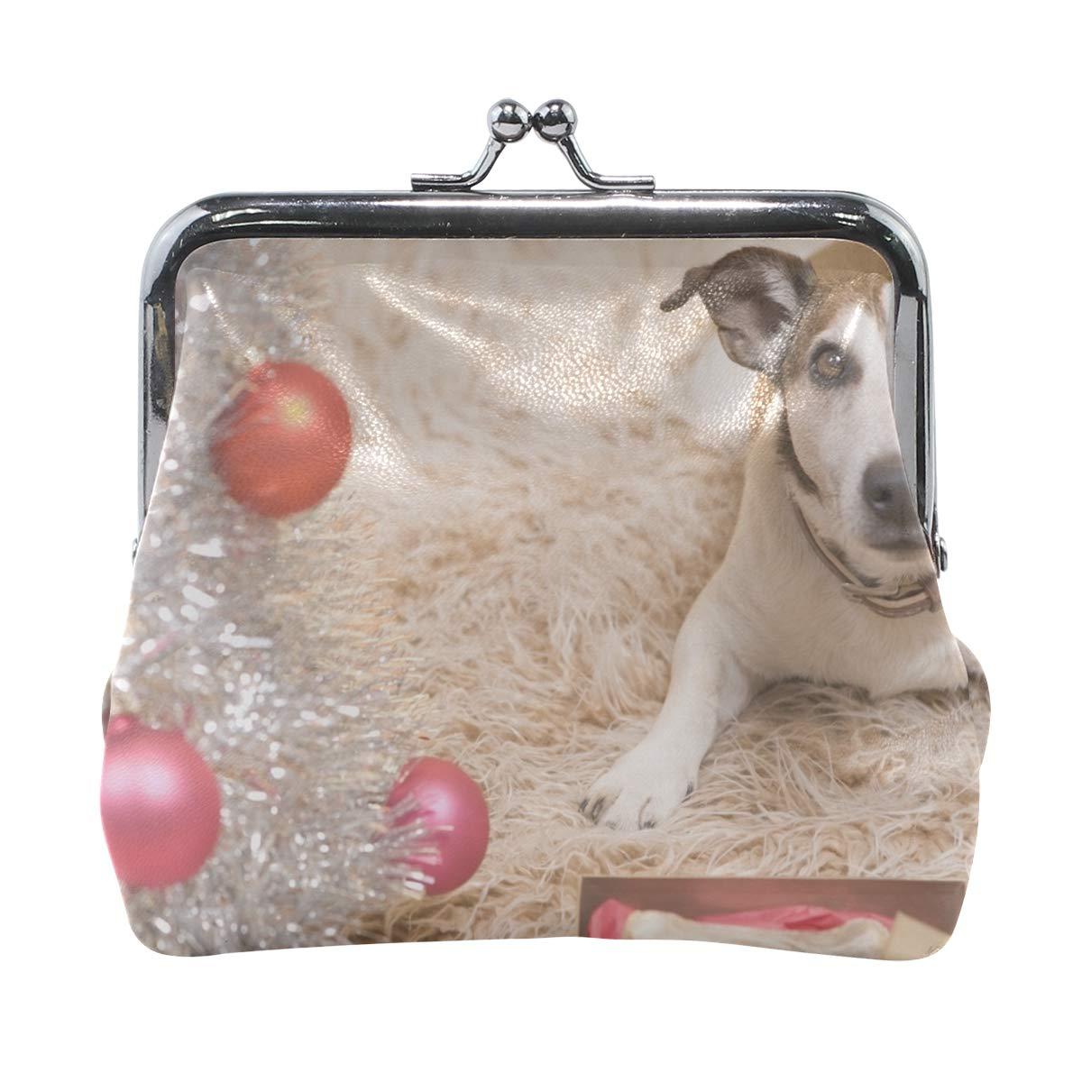 Rh Studio Coin Purse Clasp Closure Dog Carpet New Year Print Wallet Exquisite Coin Pouch Girls Women Clutch Handbag Exquisite Gift