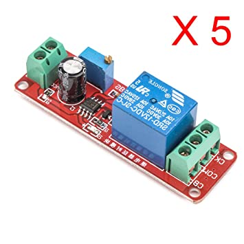 DaoRier Delay Timer Switch 12V Relay Module Adjustable 0 to 10 Second NE555 Electrical Home Automation