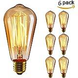 KINGSO 6x E27 40W Edison Lampe Vintage Stil Glühbirne Squirrel Cage Retro Lampe Antike Beleuchtung 220V