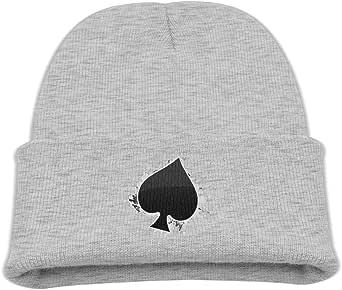 ADGoods Kids Children Poker Ace of Spades Beanie Hat Knitted Beanie Knit Beanie For Boys Girls Gorra de béisbol para niños