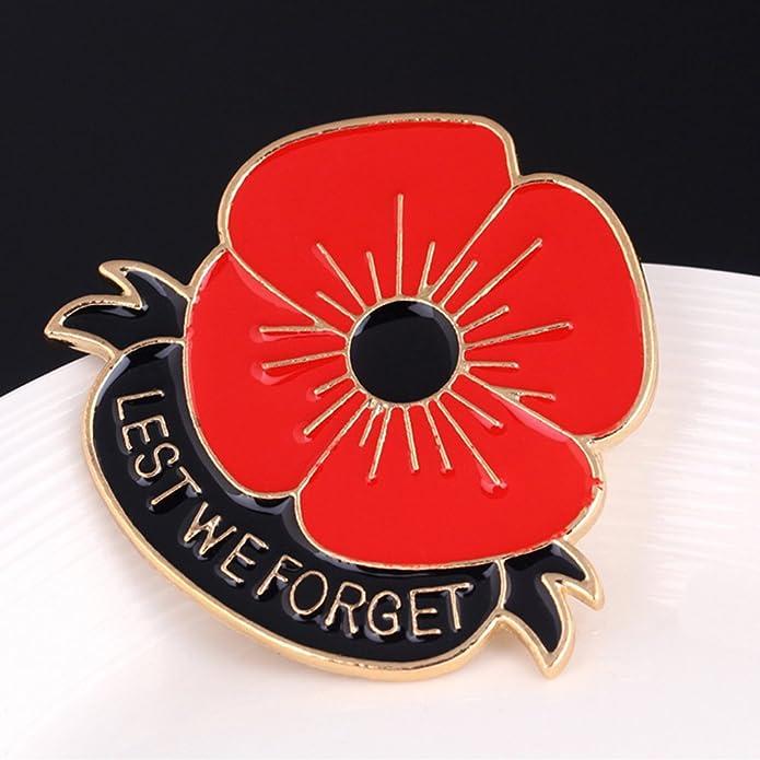 Amazon lest we forget poppy brooch pin flower broach memorial amazon lest we forget poppy brooch pin flower broach memorial day remembrance day jewelry mightylinksfo