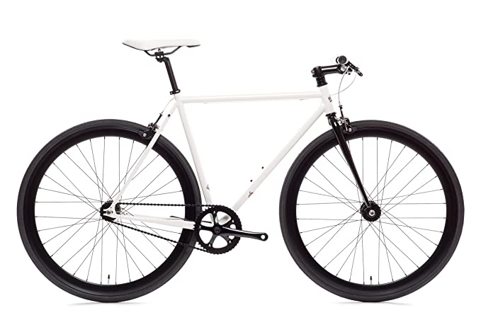 Ghoul Core-Line State Bicycle | Fixie Single Sped Fixed Gear Bike - Ghoul (White & Black) Medium (54 cm) best cyclocross bikes