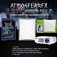 Amosfearfx Bone Chillers Video Ultimate Projector Bundle.Includes Projector, SD Card, Translucent Window Screen And Hologram Screen Stand Kit. Plus 3000 lumen Projector With 1280 x 800 Resolution