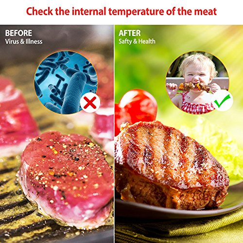 Habor Food Thermometer, Meat Thermometer Kitchen Instant Read Thermometer with Digital LCD, Folding Long Probe for BBQ Grill Smokers Kitchen Chicken Cake Brewing Milk by Habor (Image #4)