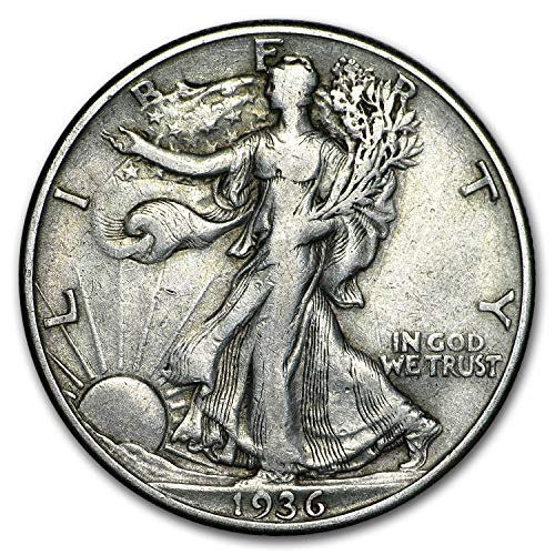 1936 D Walking Liberty Half Dollar XF Half Dollar Extremely Fine