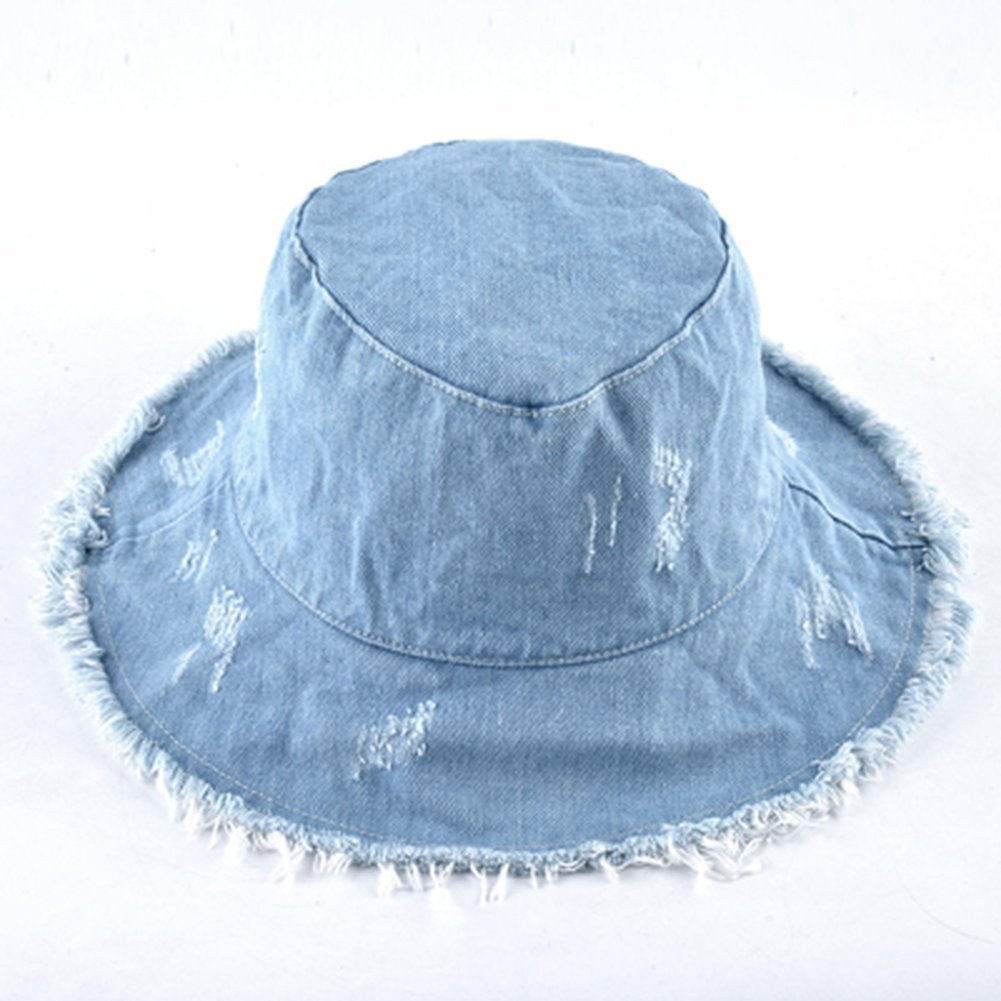 AOBRITON Summer Sun Hat for Women Fisherman Cap Bucket Hat Ladies Wide Brim Beach Cap