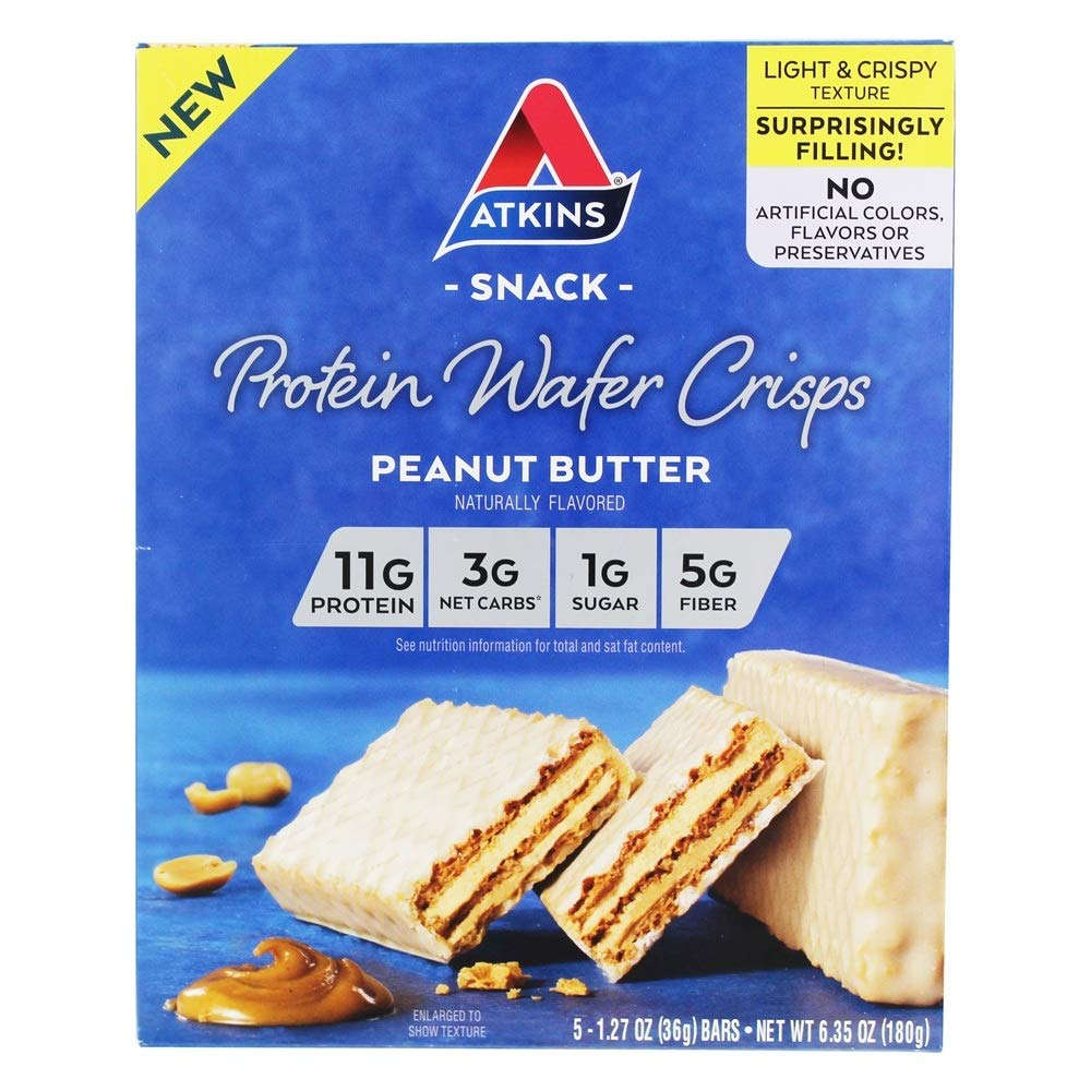 Atkins Protein Wafer Crisps - Peanut Butter (Pack of 18)