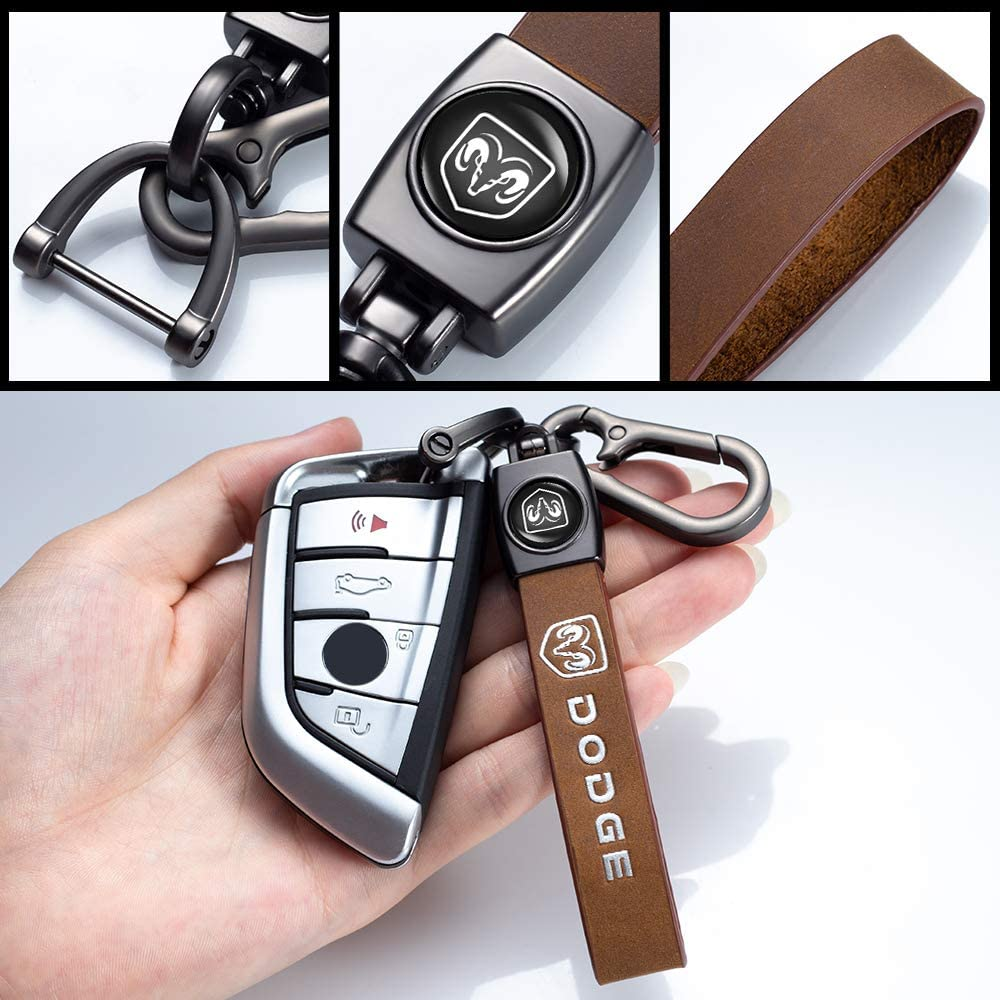 Key Chain Keyring Family Present for Man and Woman Model X,Model S 1pcs Genuine Leather Car Logo Keychain Suit for Tesla Model 3
