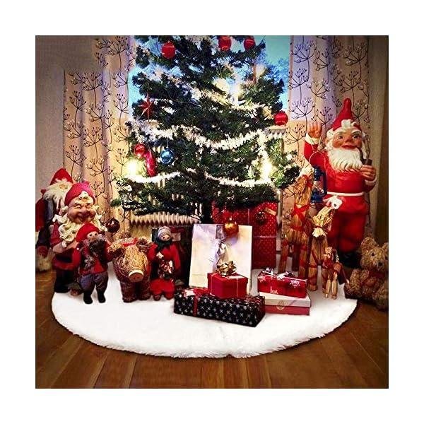 WELLXUNK Tappeto Albero di Natale,Gonna Albero di Natale,Tappetino per Albero di Natale per Albero di Natale Decorazione Capodanno casa Festa Forniture (90 cm) 6 spesavip