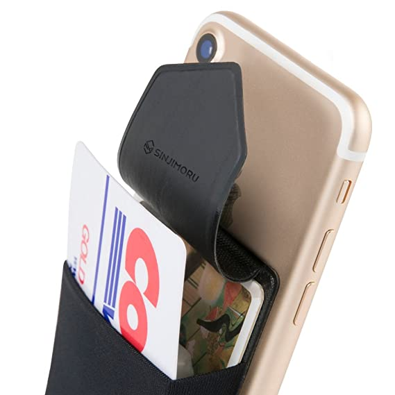 pretty nice 00f29 0435f Sinjimoru Credit Card Holder for Back of Phone, Phone Card Holder, Stick on  Wallet Functioning as Cell Phone Card Sleeves, Adhesive ID Case for iPhone  ...