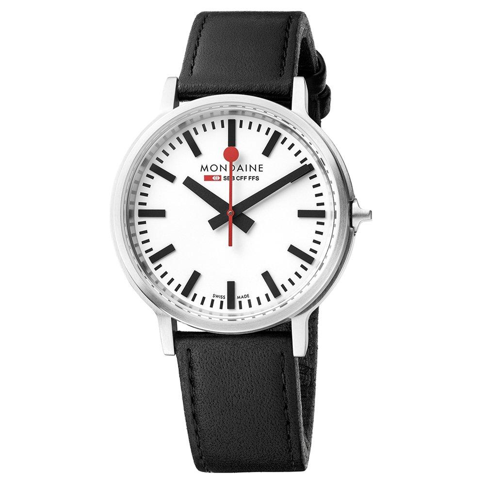 Mondaine Reloj Análogo clásico para Unisex de Cuarzo con Correa en Cuero MST.4101B.LB: Amazon.es: Relojes