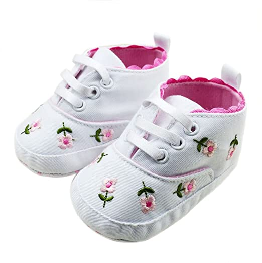 39795e986bae Amazon.com  BOBORA Baby Kids Girls Toddler Embroidered Soft Bottom Baby  Shoes 9-12 Months  Baby