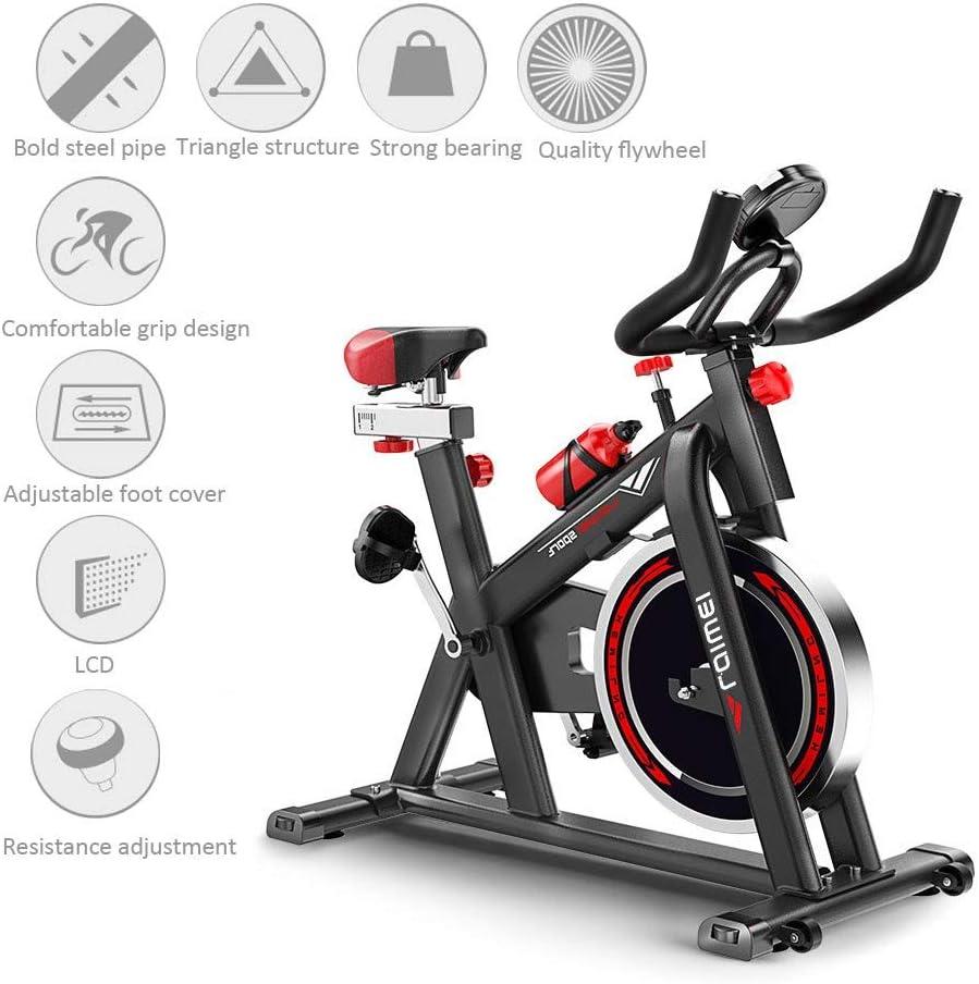 WuoooLi Bicicleta de Fitness Cubierta,con Pantalla LCD,Equipo de ...