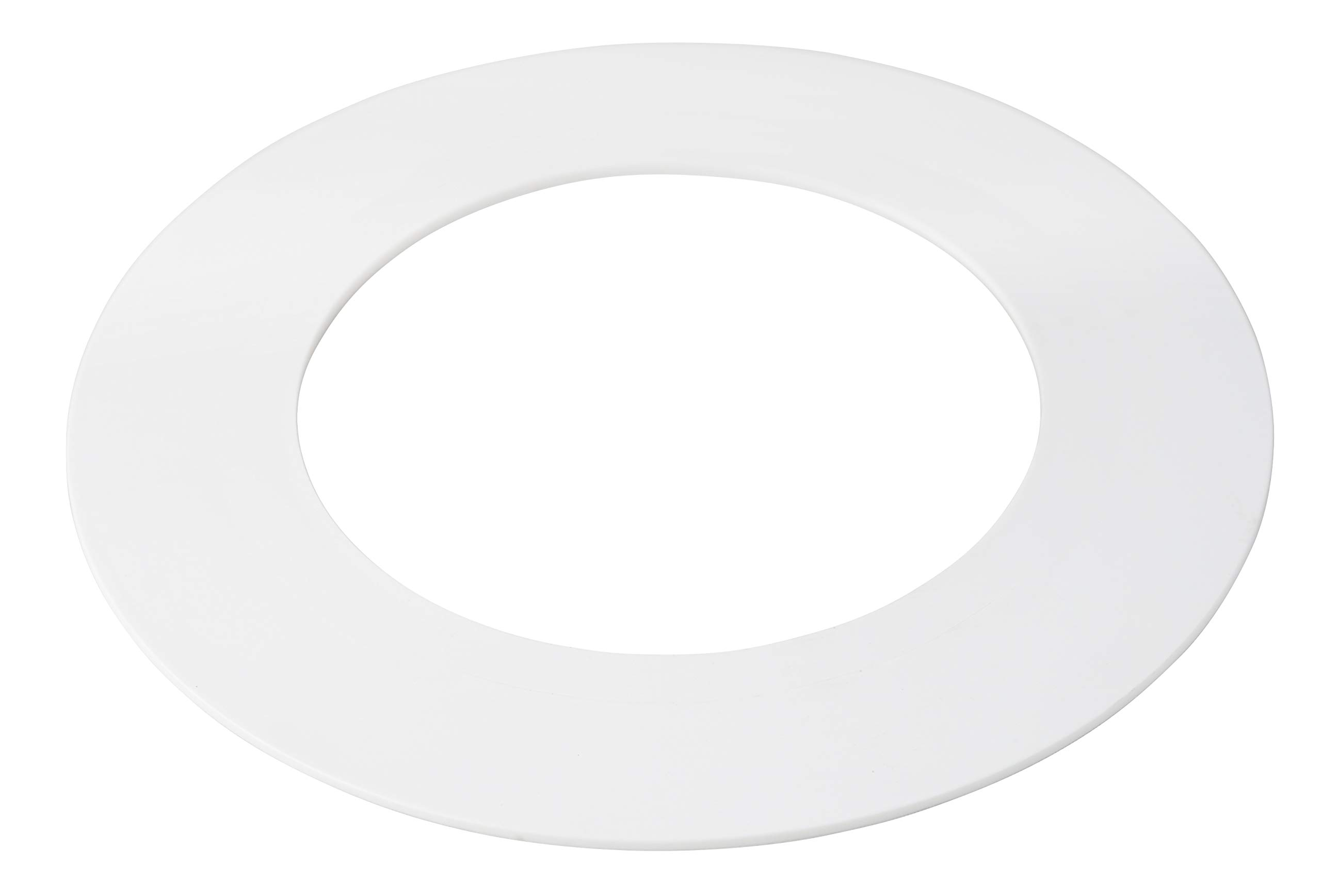 5 Pack White Plastic Trim Ring for 10'' Inch Recessed Can Down Light Oversized Lighting Fixture