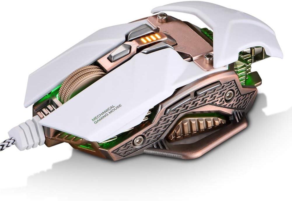 Programmation de macros personnalisées pour Souris de Jeu E-Sports optoélectronique mécanique Amovible de Bricolage-White White