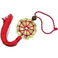Happyyami Chino Feng Shui Monedas Colgando Moneda de La Fortuna con Nudo Chino Borla Amuleto de Buena Suerte para La…