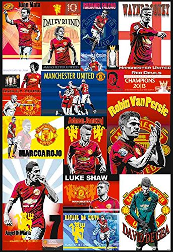 Manchester United 2014 - 2015 Football Soccer Wall Decoration Poster Art (#007)