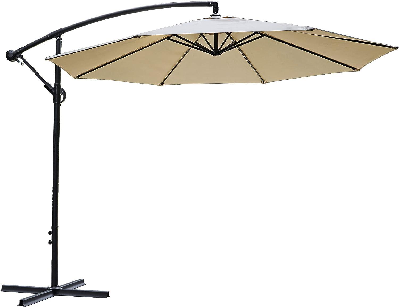 SUPER DEAL 10FT Cantilever Offset Patio Umbrella