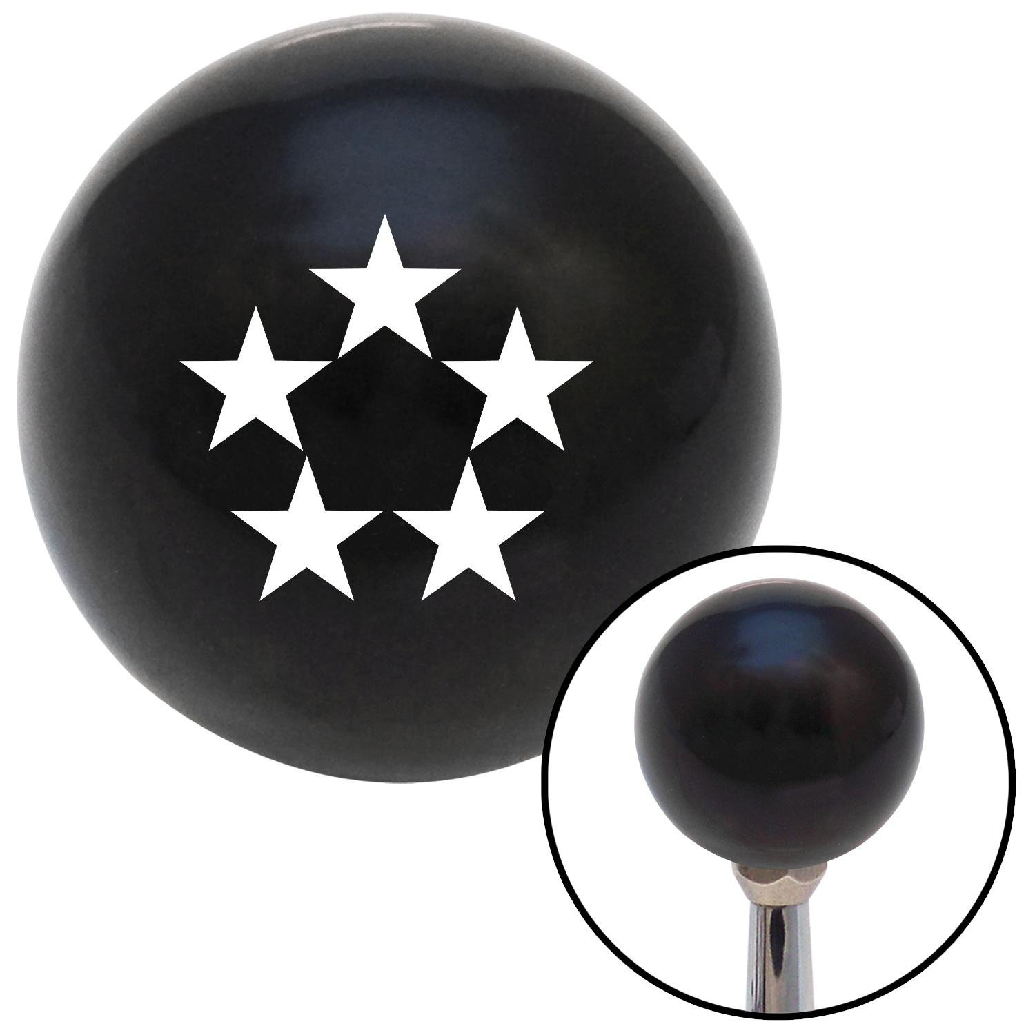 American Shifter 106477 Black Shift Knob with M16 x 1.5 Insert White Officer 11 - General of Air Force