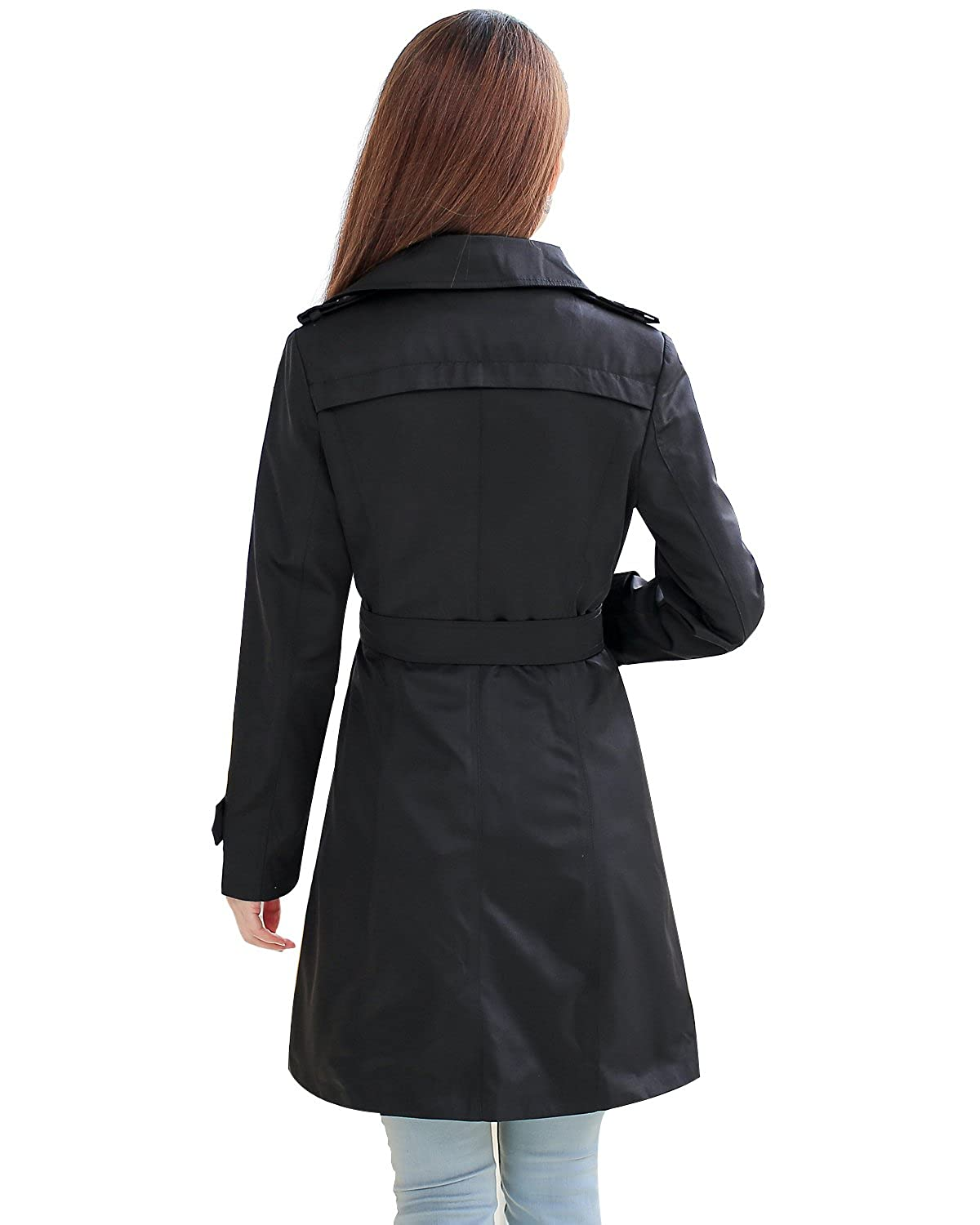 NANJUN Womens Double Breasted Trench Coat Chelsea Tailoring Overcoat