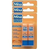 Mixa Intensif Peaux Sèches - Soin des Lèvres Antidessèchement x2 - 4.7 ml - Lot de 3