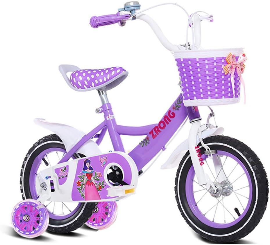 QARYYQ Bicicletas para niños Bicicletas para niñas de 18 Pulgadas ...