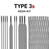 String King Type 3s Lacrosse Mesh Kit with Mesh & Strings (Gray)