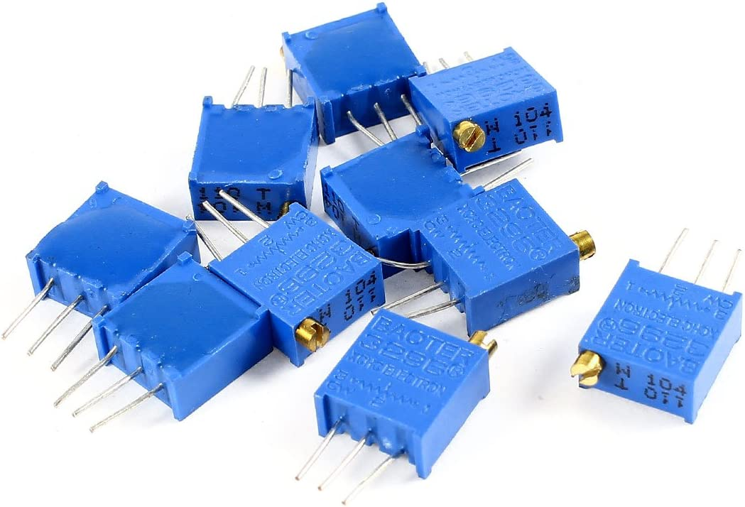 /azul 10/unidades /100/kohm 3/pines Recortadora Potenci/ómetro/ Sourcingmap/