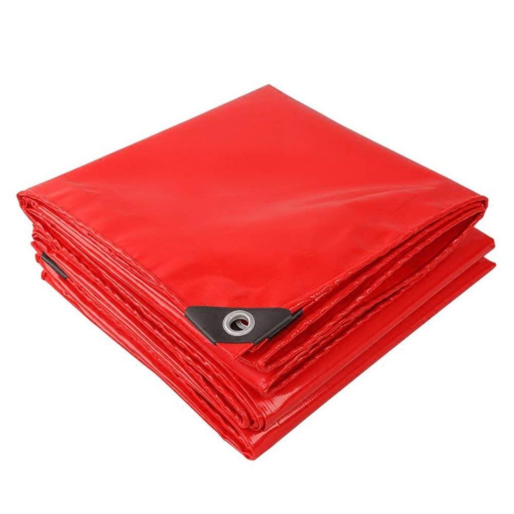 SJMYBB BÂche BÂche Rouge Convient Le Camping en Plein air à la Maison Pique-Nique Plusieurs Tailles Disponibles (Taille   3  4m)  34m