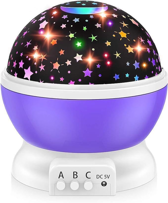 Imagen deDreamingbox Proyector de Cielo Estrellado de luz Nocturna Multifuncional para Niños 14 Colores